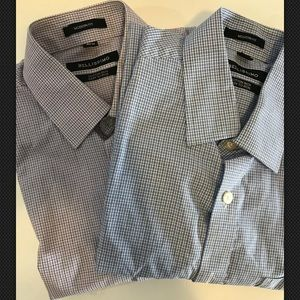 Bellissimo Mens Button Front Shirt(2) Size 15 1/2R